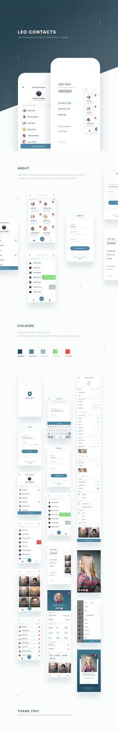 LEO Contacts App UI Design on Behance