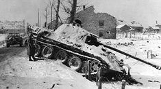 Battle Of The Bulge Pics   Knocked out German Panzer