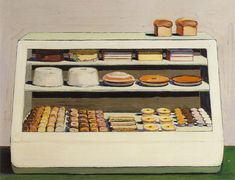 Wayne Thiebaud I love to bake, and I love his art. It's almost whimsicle but yet realistic.