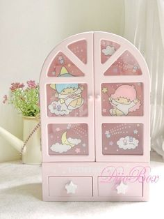 Sanrio Little Twin Stars Wooden Mini Cabinet Key Rack Shelf Trinket Jewelry Box | eBay