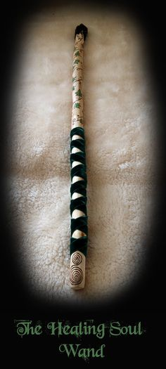 Healing Soul Wand in Pear Wood – pagan, wiccan, witchcraft, magic, healing / Dekopub Wiccan, Witchcraft, Baguette, Tarot, Wizard Wand, Fairy Wands, White Magic, Sticks And Stones, Book Of Shadows