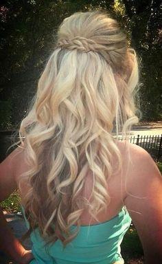 Penteado cabelo solto