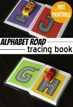 FREE Alphabet Tracing Book - a fun way to practice letters Preschool Literacy, Literacy Activities, In Kindergarten, Activities For Kids, Preschool Alphabet, Alphabet Crafts, Teaching Resources, Preschool Transportation, Transportation Theme