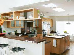 Modern Kitchen Design in Open, Modern Great Room from HGTV