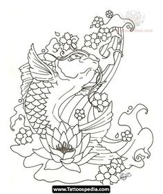 28 Koi Fish Coloring Page Japanese Koi Fish Tattoo, Koi Fish Drawing, Fish Drawings, Fish Coloring Page, Adult Coloring Pages, Coloring Books, Carpe Coi, Coy Fish Tattoos, Tatto Koi
