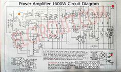 1600W High Power Amplifier Circuit Diagram