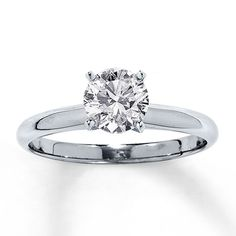 One of my favorite rings besides Tiffany & Co. So beautiful, timeless and classic. Jared 14K White Gold 1 Carat Diamond Solitaire