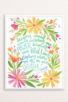 Inspirational Quote Printable Wall Art by PRINTSPIRING on Etsy