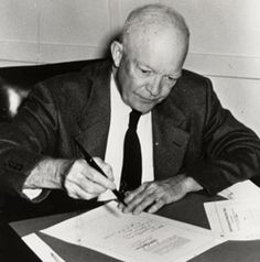 THE CIVIL RIGHTS ACT OF 1957 was passed during Eisenhower's presidency and he had to deal with segregation issues, e.g., Little Rock, Arkansas. Although he passed the Civil Rights Act, he was not in favor of dealing with or supporting issues on segregation.  He did also not enforce the Supreme Court's ruling in Brown v. Board of Ed.  However, he did send troops to Little Rock when mobs of people tried to oppose the desegregation of schools. ~ LEGISLATIVE LEADER |  Dwight D. Eisenhower.