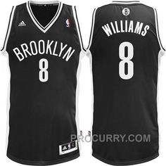 0132d9013 Deron Williams Brooklyn Nets  8 Revolution 30 Swingman Road Jersey