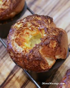 Black Pepper and Gruyere Popovers.  Step-by-step to making these super easy popovers.  Add your favorite herbs or cheeses to individualize.  Man, these are perfect with a plate of pot roast!