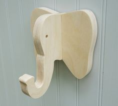 Wall hooks Elephant wall hook: playful plywood от thejunglehook