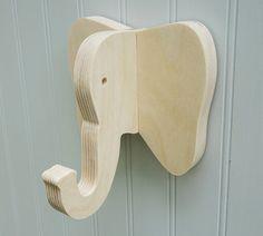 Wall hooks Elephant wall hook: playful plywood by thejunglehook
