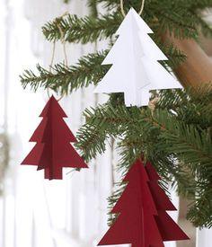 Make paper Christmas trees