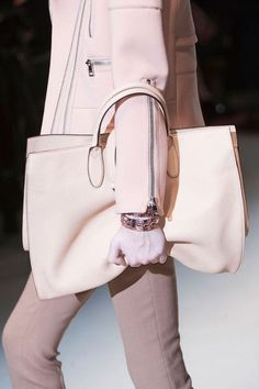 Pink jacket, trousers and bag by Gucci Fall 2014