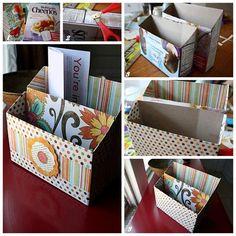 Organizador con caja de cereal!