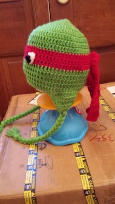 "Teenage Mutant Ninja Turtle"" side view of hat!"