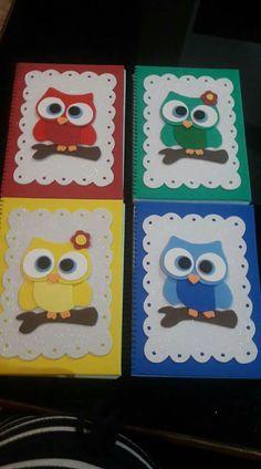 Παρο Birds For Kids, Art For Kids, Crafts For Kids, Owl Crafts, Diy Arts And Crafts, Paper Crafts, Owl Classroom, Baby Mobile, Decorate Notebook