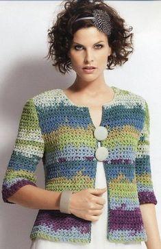 Fabulous Crochet a Little Black Crochet Dress Ideas. Georgeous Crochet a Little Black Crochet Dress Ideas. Gilet Crochet, Crochet Shrug Pattern, Crochet Jacket, Crochet Poncho, Crochet Cardigan, Crochet Baby, Bolero Pattern, Top Pattern, Crochet Patterns