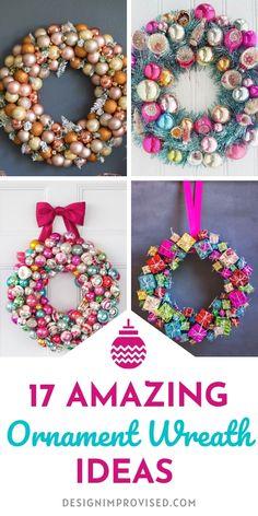 17 Amazing DIY Ornament Wreath Ideas