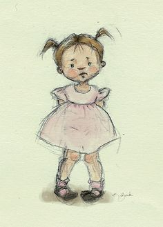 Little-girl-Watercolor-WIP | Flickr - Photo Sharing!