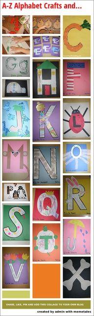 A-Z Alphabet Crafts and Books