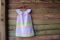 Easter Chevron Dress Pastel girls dress size 6 by plainjanesstore, $18.50 www.plainjanesstore.com For Sale in our Etsy Shop, Plain Janes Store