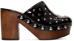 Marc By Marc Jacobs Black Studded Dylan Clogs