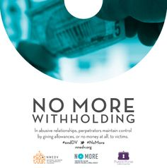 Abusers may give an allowance, or no money at all, to the victim. This makes it hard for the victim to leave the relationship due to lack of funds needed to support herself, and often her children too. #endDV #nomore http://www.clicktoempower.org/sites/default/files/learningmodules/modules/finbasics1.html