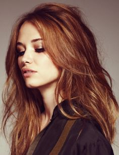 Inspiration: Pretty color, tousled hair auburn hair, hair colors, messy hair, red hair, hair beauty, auburnhair, hairstyl, brown hair, eye