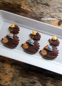 Hedgehog Cookies~ By Okash Inokobito, Brown