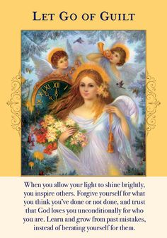 Oracle Card Let Go Of Guilt   Doreen Virtue - Official Angel Therapy Website