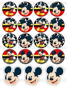 Kit imprimible gratis de Mickey - Imagui                              … Mickey Mouse Clubhouse, Fiesta Mickey Mouse, Mickey Mouse Parties, Mickey Party, Circo Do Mickey, Mickey E Minie, Theme Mickey, Mickey Mouse Birthday, Imprimibles Mickey Mouse