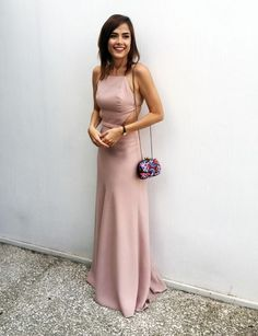 Blush Pink Prom Dresses,Prom Dress,Simple Prom Dress,Chiffon Prom Dress,Simple Evening Gowns,Cheap Party Dress,Elegant Prom Dresses,Formal Gowns For Teens