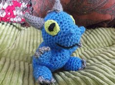 Crochet baby blue dragon dragon amigurumi baby or by SalemsShop
