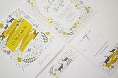 Spring Woodland Wedding Invitation Set of 4 Printable