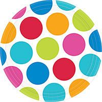 Cabana Polka Dot Personalize It Party Supplies - Party City