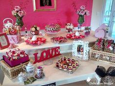 Chá de Lingerie Luciana - Rosa pink com oncinha
