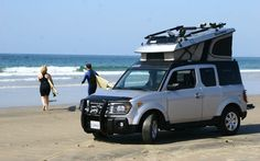 honda element, campers, front three, element camper, camper top