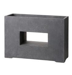 Intratuin bak kubus venster 75 x 27 x 52 cm antraciet