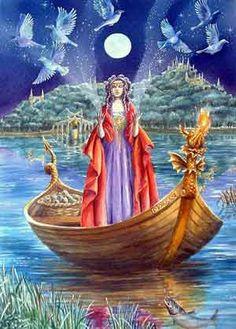 Morgaine Le Fay ou Morgana Le Fay, sendo conhecida na Grã-Bretanha como Morgana das Fadas, dentre outros nomes, aparece nas histórias do Rei Artur. O nome Morgaine tem origem celta e quer dizer mulher que veio do mar. Pode-se escrever Morgaine ou Morgan. Morgaine também é muito conhecida na Itália por um fenômeno chamado Fata Morgana, traduzindo Fada Morgana.