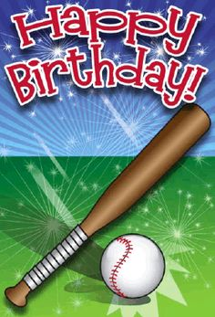 Perfect for the sports enthusiast in your life, this card features a baseball and bat. Free to download and print