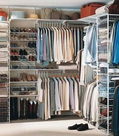 18 Wardrobe Closet Storage Ideas – Best Ways To Organize Clothes this works.