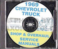 1969 #chevrolet truck shop manual cd pickup #suburban van #chevy fleetside stepsi,  View more on the LINK: http://www.zeppy.io/product/gb/2/400169264615/