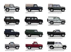 The Land Rover Defender Double Cab Pick Up. 27 models from which to choose, all safari-ready.