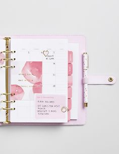 Be inspired to get organised with this pretty pink lavender Planner