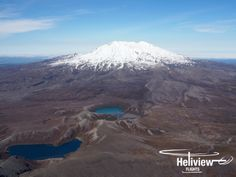 Approaching Mt Ruapehu from the north with the Lower and Upper Tama Lakes in the foreground. Mount Ruapehu, Emerald Blue, Alpine Lake, Crater Lake, Lakes, New Zealand, Skiing, Waterfall, National Parks
