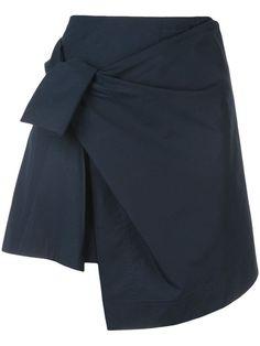 Derek Lam 10 Crosby Wrap Mini Skirt With Knot Shop Derek Lam 10 Crosby Wrap Mini Skirt With Knot Skirt Fashion, 90s Fashion, High Fashion, New York Fashion, Fashion Fall, 2014 Fashion Trends, Minimal Outfit, Textiles, Asymmetrical Skirt