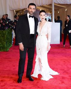 Industry Insiders on the 2013 Met Gala Red Carpet: Riccardo Tisci and Rooney Mara, who wore custom Givenchy.