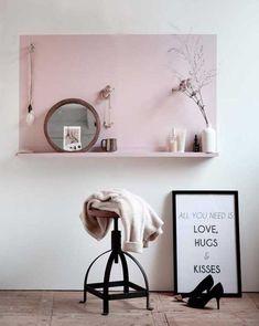 pinturas diferentes para paredes do cantinho de beleza